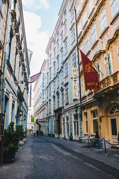 Side streets in Vienna, Austria. Photo Diary: Welcome to Beautiful Vienna. Travel in Europe.