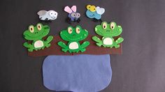Three Green and Speckled Frogs | Flannel Board Fun