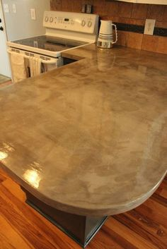 Covering Laminate Countertops With A Layer Of Concrete Extraordinary Concrete Kitchen Countertops Inspiration Design