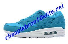 Glow Blue Nike Air Max 1 87 Mens White 308866 444 Air Max Sneakers, Sneakers Nike, Nike Air Max Mens, Grey Nikes, Blue Nike, Air Max 1, Shoe Sale, Blue Grey, Royal Blue