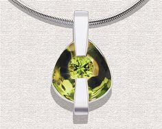 Peridot Necklace Peridot Pendant Peridot Jewelry by VerbenaPlace, $138.00