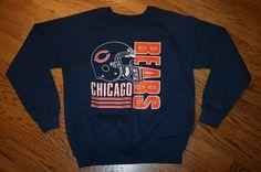 Vintage Chicago Bears Football Sweatshirt Shirt Men's Large #Garan #ChicagoBears