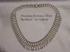 Exotic Antique Silver Cleopatra Collette Necklace from dejavuantiques on Ruby Lane