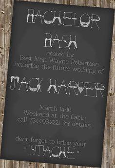 Bachelor Party Invite - mustache