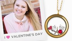 Create this Valentine's Day look or one of your own with Origami Owl.  Tell your story with our jewelry. #OrigamiOwl #valentines #nowthatshappy