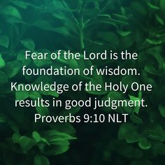 Fear Of The Lord, My Lord, Proverbs 9