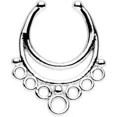 Bountiful Bubbles Non-Pierced Clip On Septum Ring
