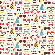 white Cosmo hipster fabric from Japan glasses moustache