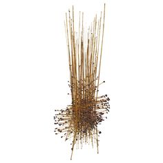 Unique and Striking Melt Coat Wire Sculpture by Harry Bertoia (1915-78) | From a unique collection of antique and modern sculptures at http://www.1stdibs.com/furniture/more-furniture-collectibles/sculptures/