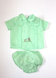 Vintage baby boy outfit, 1950's.