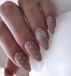 30 Popular Nail Designs Ideas in 2019 Popular Nail Designs, Cute Nail Designs, Acrylic Nail Designs, Acrylic Nails, Gorgeous Nails, Pretty Nails, Nail Designs Pictures, Almond Nails Designs, Polka Dot Nails