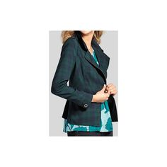 cabi's Tartan Jacket - Cabi Fall 2016 Collection ❤ liked on Polyvore featuring outerwear, jackets, blue plaid jacket, blue jackets, plaid jacket and tartan jacket