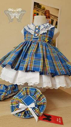 Lindo  este vistido   AMEI Toddler Girl Style, Toddler Dress, Baby Dress, Baby Doll Clothes, Doll Clothes Patterns, Little Dresses, Little Girl Dresses, Baby Girl Fashion, Kids Fashion