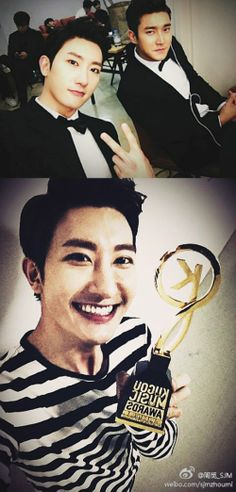 SUJU-M's Zhoumi Sends Thanks for 'Asia Best Group' Award in China  #SUJUM #ZOUMI #SIWON #SUJU #CHOISIWON #SUPERJUNIOR #ELF #SUJUCHINA