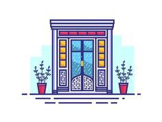 Beautiful Door by Zahidul Islam  #Design Popular #Dribbble #shots