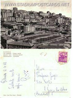 € 2,00 - code : ITA-061 - POTENZA anni 50 - stadium postcard cartolina stadio carte stade estadio tarjeta postal