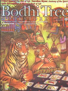 """Two Tygers Casting the Tarot"" from Tiger's Voyage by Richard Adams with illustrations by Nicola Bayley"