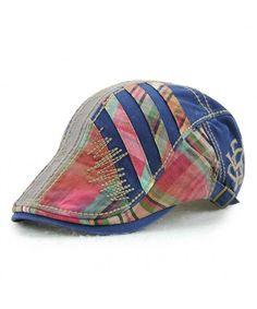 Women s Trendy Fashion Summer Adjustable Newsboy Visor Ivy Cap Hat Blue  C21828CCMON 1486177accfa