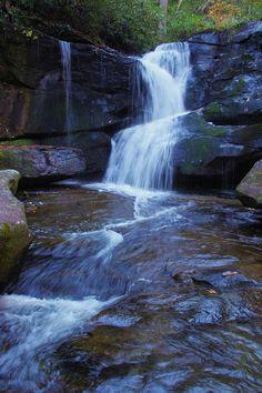 Cedar Rock Falls in the Pisgah National Forest, near Brevard, North Carolina