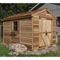 Cedar Shed 8 x 12 ft. Rancher Storage Shed | from hayneedle.com