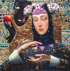 HARLEQUIN WITH BALL ~ Victor Nizovtsev (b1965 Ulan-Ude, Central Siberia, Russia)
