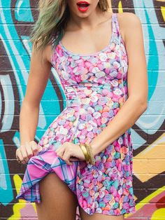 Tartan Barbie vs Candy Hearts Inside Out Dress - LIMITED (WW $170AUD / US $136USD) by Black Milk Clothing