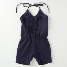 navy blue// This would be so cute with red wedges and a skinny belt! Kids Fashion Wear, Girl Fashion, Fashion Outfits, Kids Outfits, Cute Outfits, Little Fashionista, Stylish Kids, Baby Wearing, Playsuit