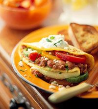 Knife-and-Fork Breakfast Burrito. For more delicious breakfast recipes go to: http://www.diabeticlivingonline.com/diabetic-recipes/breakfast/low-calorie-breakfast-recipes/
