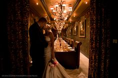 Bride and groom in wine room at the Grand Bohemian Hotel Orlando as shot by Studio222 Photography.