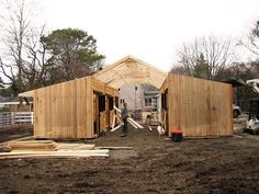 Building a small horse barn plans is relatively easy and you can do it without professional help, especially if you use a barn kit to build it Horse Shelter, Horse Stables, Horse Shed, Horse Farms, Simple Horse Barns, Horse Barn Designs, Horse Barn Plans, Mini Horse Barn, Mini Barn