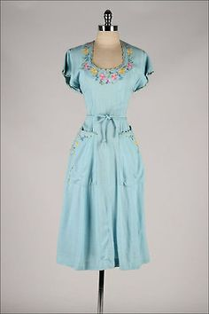 omgthatdress: Dress 1940s Mill Street Vintage