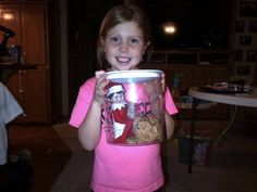Suzy likes cookies.  Elf on the shelf