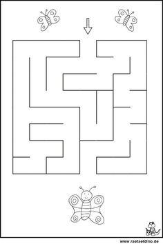 Labyrinth Rätsel für Kindergartenkinder
