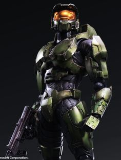 New Photos of Halo 2 Anniversary Edition Master Chief Play Arts Kai - The Toyark - News Odst Halo, Halo 2, Xbox, Halo Cosplay, Halo Armor, Halo Master Chief, Halo Game, Sci Fi Armor, Red Vs Blue