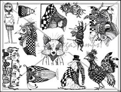 original design  rubber stamp plate by mary vogel lozinak   unmounted sheet of rubber  no. 922