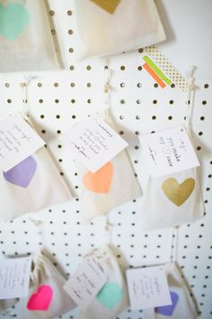 Here's a photo of our heart favor bags at a birthday party!!!  kiwitinicreations.etsy.com, click for details!