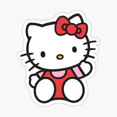 Hello Kitty Art, Hello Kitty My Melody, Hello Kitty Birthday, Anime Stickers, Cat Stickers, Decoracion Hello Kitty, Hello Kitty Drawing, Hello Kitty Colouring Pages, Hello Kitty Imagenes