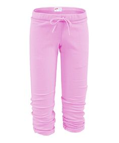 Look at this Soft Pink Football Capri Pants on #zulily today!