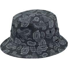 Supreme Paisley Crusher Bucket Hat Black