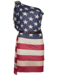 Handmade an American Flag Dress ! WOW  I would give anything to be able to own this lovely american flag dress.