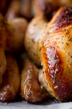 Sweet Citrus and Herb Bouquet-Stuffed Cornish Game Hens with Orange Marmalade Glaze Roasted Cornish Hen, Cornish Game Hen, Cornish Hens, Cornish Hen Recipe Easy, Crockpot Recipes, Chicken Recipes, Marmalade Recipe, Vegetable Side Dishes, The Fresh