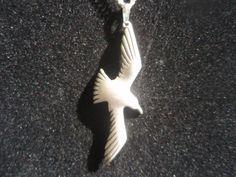 Vintage Silver Seagull Pendant on Chain  by SocialmarysTreasures, $5.77