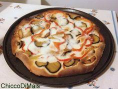 Pizza alle verdure ricetta vegetariana il chicco di mais http://blog.giallozafferano.it/ilchiccodimais/pizza-alle-verdure-ricetta-vegetariana/