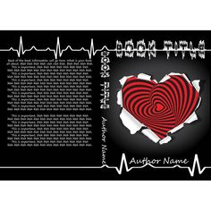 Heart Rhythm -A very cool black book cover with a red heart ripped in it. This book cover would be great for a love story heartbreak story or even poetry!  Comes with an ebook cover and full book wrap and a mockup.  #bookcovers #indiebooks #custombookcover #custombook #ebooks #ebookcoverdesign #ebookcover #graphicdesigner #ilovebooks  #bookcoversforsale #bookstagram #writers #imwritingabook #indieauthor #indiewriter #photomanipulation #photoedits #heart #blackheart #loveyou #love…