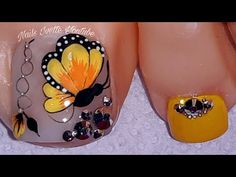 Pedicure Nail Art, Toe Nail Art, Manicure, Pretty Toe Nails, Pretty Toes, Gold Nail Designs, Acrylic Nail Designs, Acrylic Toes, Nail Effects