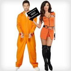 a7694b31174 102 Best Halloween Couples Costumes of All Time (50+ DIY Ideas). Prison  JumpsuitCouple ...