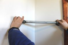 45-degree elbows and a short steel pipe: no wasted corner in the closet!