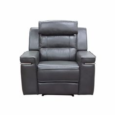 Duncan Reclining Chair in Slate Grey Leatherette by Diamond Sofa