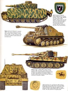 Pz III, Marder, Tiger I, Ferdinand
