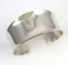 Vintage Modernist N.E. FROM Denmark Sterling Silver Cuff Bracelet